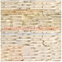 Yellow Marble Combed Wall Tiles