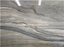 Marine Blue Quartzite Slabs Gold Grey Stone