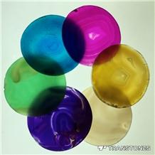 Translucent Popular Natural Agate Coasters