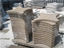 China Yellow Rust Granite Garden Flagstone Pavers