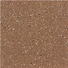Coffee Brown Cement Terrazzo Tile Floor Cover Pattern