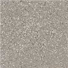 Grey Terrazzo Tile Commercial Project Floor Pattern Cut to Size