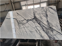 Milas Lilac New York Marble Slab Interior Design