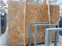 Van Gogh Gold Yellow Marble Hotel Flooring Tiles
