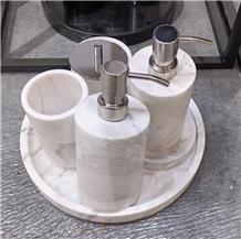 Volakas White Marble Bathroom Accessories