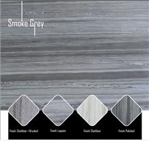Smoke Grey Wooden Vein Quartzite Slabs
