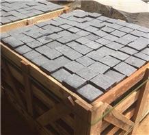 Cobbles Basalt Pavers, Viet Nam Grey Basalt