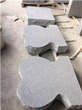 G633 Granite Heart Shape Slant Headstone
