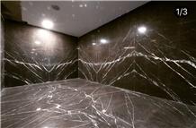 Pietra Grey Marble Slab, Tile