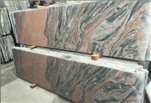 China Red Symphony Multicolor Red Granite Slabs