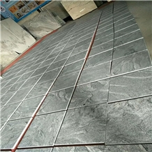 Nero Santiago/Landscape Grey Granite Tiles Slabs