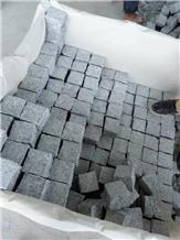 Padang Light Hubei Sesame White Granite G603 Cubes