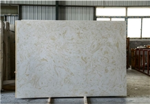 White Fantasy Artificial Marble Slabs