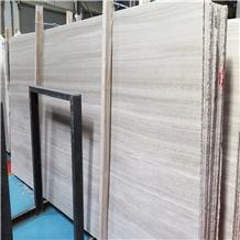 White Wood Grain Marble Slabs/Light Wooden Grey