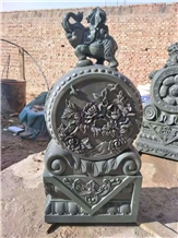 Blue Stone Drum Stone Block Gate Carving Relief