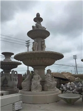 European Water Fountain Stone Carving Sculpture