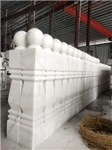 Guangxi White Marble Balustrade Balcony Railing