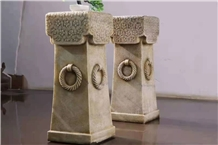 Landscape Decorate Stone Small Columns Pillars