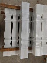 Natural White Marble Villa Balustrade Roman Column