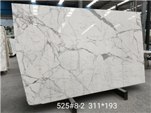 Calacatta White Marble Slab and Tiles for Project