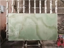 Green Onyx Slab and Tiles for Project