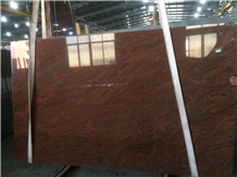 Red Symphony Granite Slab and Tiles for Project