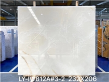White Onyx Slab and Tiles for Project