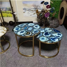 Agate Round Coffee Table Luxury Style
