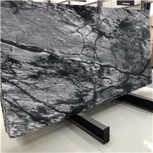 Best Price Landscape Painting Black Marble Slab