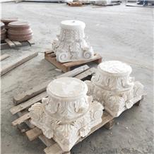 China Good Price Marble Stone Column Capitals