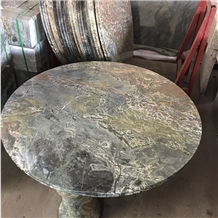China Nine Dragon Wall Granite Round Outdoor Table