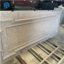 China Pink Granite Cnc Carving Pattern for Wall