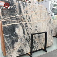 Chinese High Polished Black Jungle Marble