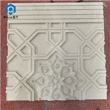 Cnc 3d Designs Marble Tiles for Outdoor Wall