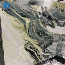 Dream Green Color with White Vein Marble Slab