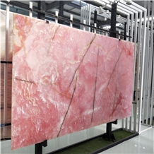 Factory Direct Sale Pink Onyx Marble Stone Slab