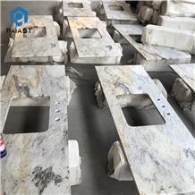 Giallo Cecilia White Granite Custom Bathroom Top