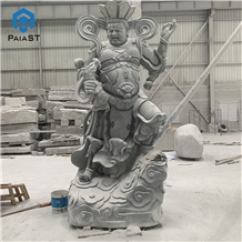 Grey Granite Hand Carved Figure for Outdoor Decor