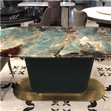 Luxury Amazon Green Marble for Dining Table
