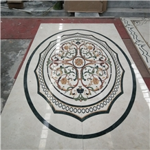 Luxury Villa Flooring Water Jet Marble Design