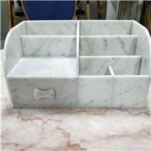 Marble Make up Storage Box Home Decoration