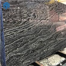 Mercury Black Marble Tile for Interior Wall Design