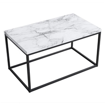 Modern Design Square White Marble Coffee Table