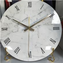 Modern European Style Mdf Marble Clock