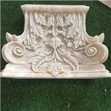 Modern Roman Design Lemon White Onyx Wedding