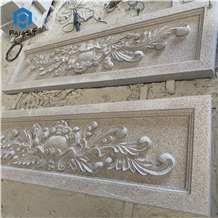 Pink Granite Cnc Carving for Feature Wall Decor