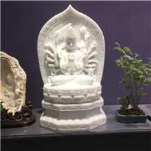 White Marble Statue Carving for Interior Decor