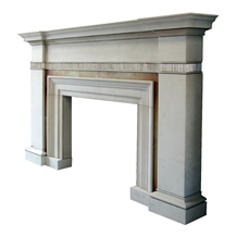 Stone Fireplaces, Beige Marble Fireplaces