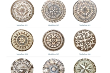 Travertine and Marble Mosaic Medallions