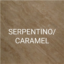 Serpentino Caramel Travertine Slabs, Tiles